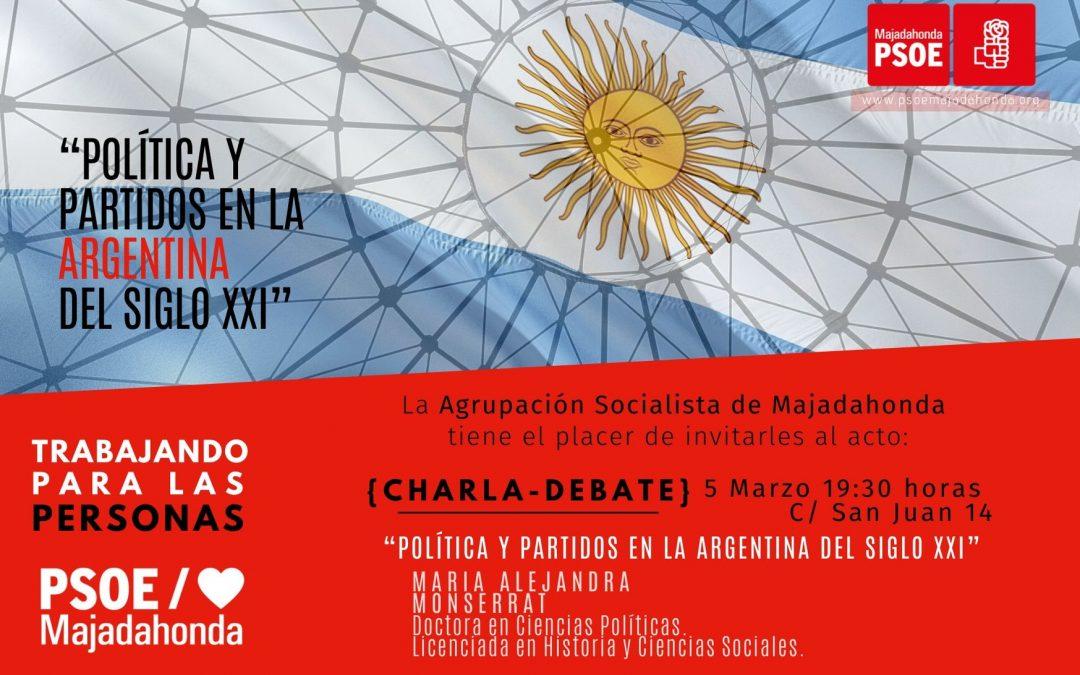 """Charla-debate """"Política y partidos en la Argentina del siglo XXI"""" con María Alejandra Montserrat"""