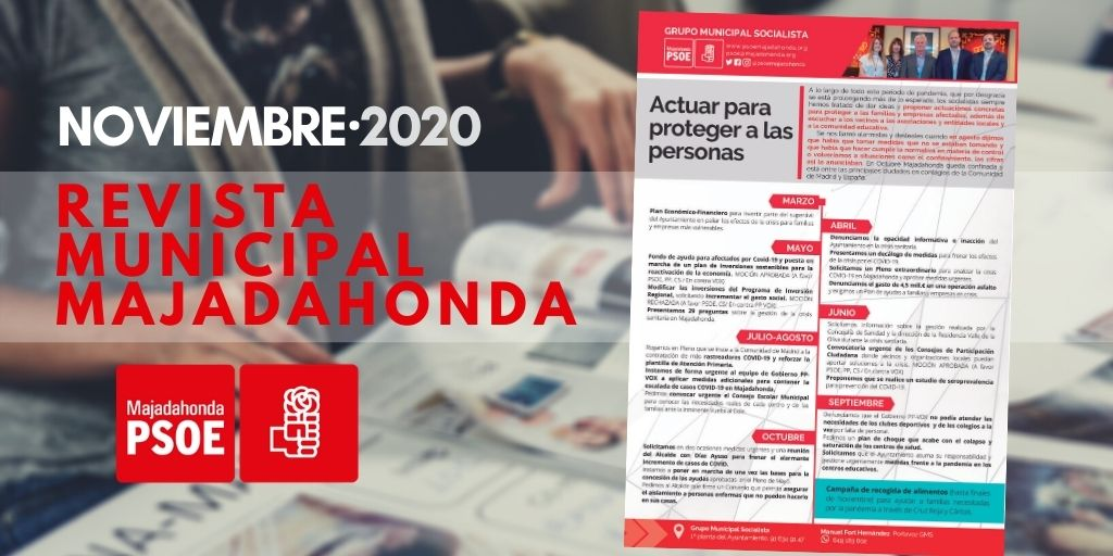 PSOE Majadahonda: Revista Municipal Noviembre 2020