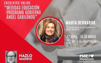 Charla Debate Educación programa Gabilondo con Marta Bernardo